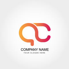 Initial Letter AC Logo Template