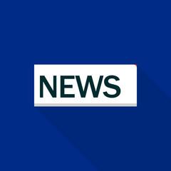 News logo. Flat illustration of news vector logo for web design