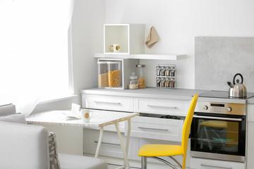 Stylish kitchen interior setting. Idea for home design