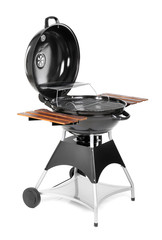 New modern barbecue grill on white background