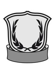 wappen schild lorbeerkranz banner design logo text schreiben name feld leer cool