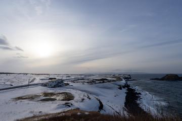 夕陽ヶ丘展望台から見る利尻島と礼文島