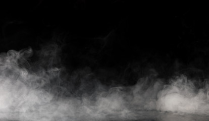 Wall Murals Smoke Abstract Smoke on black Background