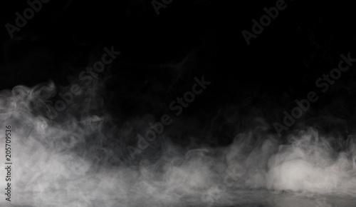 Fototapete Abstract Smoke on black Background