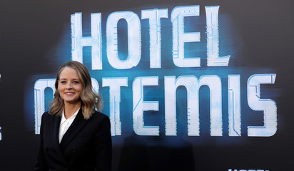 "Cast member Foster poses at the premiere for the movie ""Hotel Artemis"" in Los Angeles"