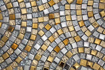 Silver and gold surfaces tile.