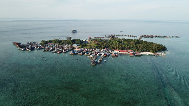 Mabul Island, Malaysia. Islands like this are at risk from climate change and rising sea levels