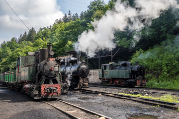 vintage stream locomotive