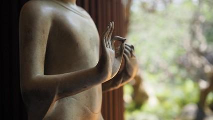 Closeup of beautiful Buddha hands.