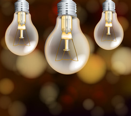 Light Bulbs on Blur Background