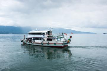 Lake Toba in the Indonesian island of Sumatra