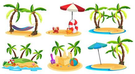 A Set of Paradise Island