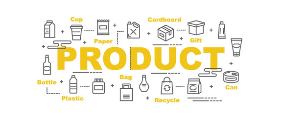 product vector banner