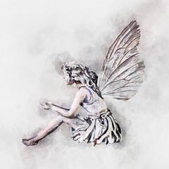 watercolor Beautiful fairy