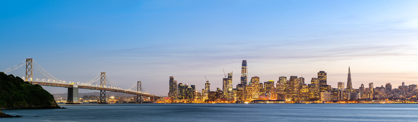 Photo sur Aluminium San Francisco San Francisco downtown skyline