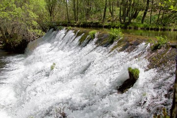Small waterfalls of a river