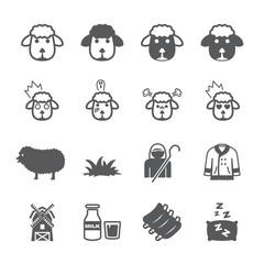 Sheep icon set