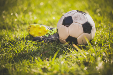Soccer at sunset
