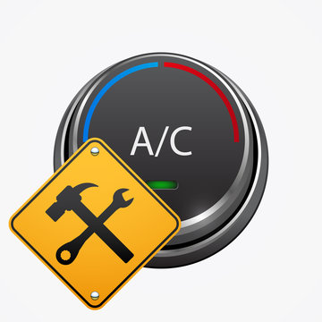 Car air condition repair icon, vector design