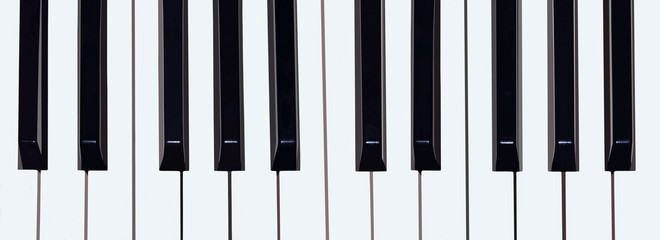 Piano keyboard, black and white colors.Background.