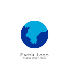 Earth logo, world logo design.