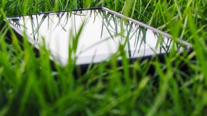 smartphone on grass