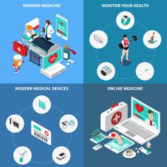 Digital Medicine Isometric Design Concept