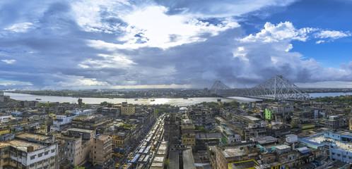 City Of Joy Panoramic View Papier Peint