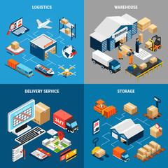 Logistics 2x2 Isometric Concept