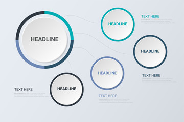 Infographic Concept. Business concept. Business circle template with options for brochure, diagram, workflow, timeline, web design