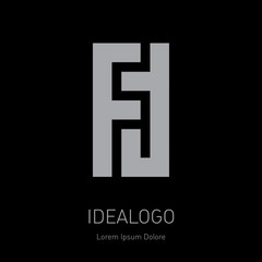 F and T initial logo. FT - Vector design element or icon. Initial monogram logotype.