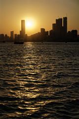 Riverside City Shanghai Sunset skyline