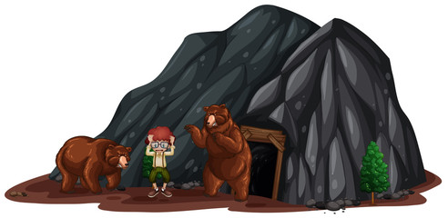 Two Bear Scared a Kid