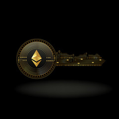 Ethereum Cryptocurrency Coin Private Key Background