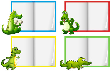 A Set of Crocodile Template