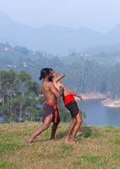 Adithada hand combat - Kalaripayattu Martial Art in Kerala, India