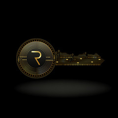 Request Network Cryptocurrency Coin Private Key Background