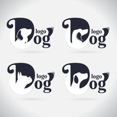 Logo dog logo Collection. animal. font. Freeform. symbol. Abstract. vector illustration. on white background