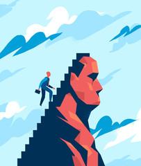 Manager rampante scala la vetta del suo ego