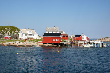 The old fishing village of  South Gjeslinganin Trondelag