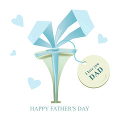 Нappy father's day, gift for father, birthday card to dad. Printout for printing. Greeting card - love you DAD.
