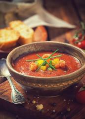 Fresh Cold Gazpacho Soup
