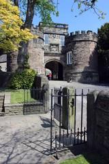 The gateway of Skipton Castle.