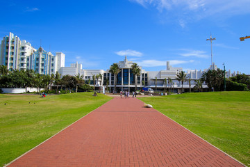 Casino building on the beachfront in Durban, KwaZulu-Natal province of South Africa