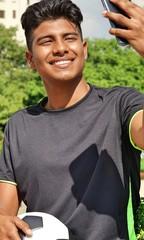 Selfie Of Male Soccer Player