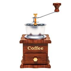 Manual coffee grinder, 3D rendering