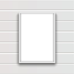Blank frame for paintings or photographs  or white board on the wall.