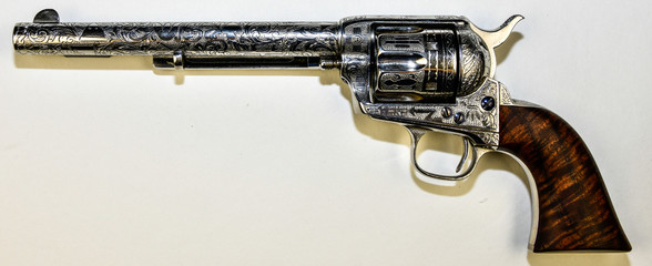 COLT SAA engraved by D. W. Harris