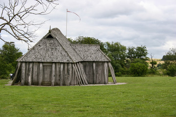 Copy of a Viking house outside Hobro