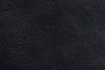 Macro of black leather